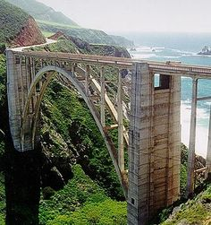Bixby Bridge California Hwy 1.  Driven over this!  Wwy 1 is an amazing drive!