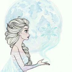Elsa the Snow Queen making a snow globe