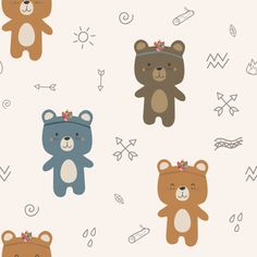 Discover thousands of Premium vectors available in AI and EPS formats Cartoon Toys, Bear Cartoon, Cute Cartoon, Kids Prints, Baby Prints, Nursery Prints, Cute Animal Drawings, Cute Drawings, Cartoon Wallpaper