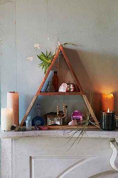 Magical Thinking Pyramid Shelf. again, could make.