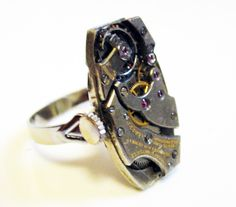 'Steampunk watch movement ring, Concord' is going up for auction at  7pm Tue, Jun 5 with a starting bid of $20.