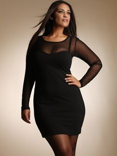 Excellent Photograph Of Chubby Woman W Large Boobs Wearing Black Dress