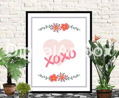Last minute giftPrint it out16x20 XOXO Svg In by DigitalArtBox