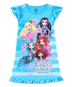 Another great find on #zulily! Aqua Ever After High Nightgown - Girls by Ever After High #zulilyfinds