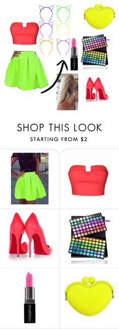 """""""NEON LIGHTS"""" by sophie7a ❤ liked on Polyvore featuring beauty, Ally Fashion, Christian Louboutin, Shany and Smashbox"""