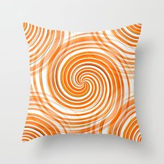 Orange Circles on White - Retro Style Throw Pillow by pivivikstrm Couch Pillows, Down Pillows, Floor Pillows, Orange Throw Pillows, Pillow Sale, Designer Throw Pillows, Pillow Design, Home Buying, Pillow Inserts