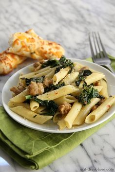 Chicken Sausage and Kale Penne   17 Pasta Recipes For When You're Trying To Be Healthy