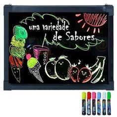 Letreiro Luminoso Led em RGB Lousa Quadro LED Writing Board 60 cm x 40 cm - 1616 - Placas de Sinalização no Extra.com.br