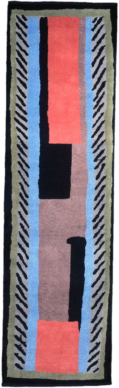 Omega Workshops rug, c1913-1919, Duncan Grant, Bloomsbury, London, UK.