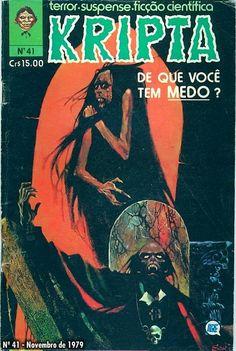 Revista Kripta #41 - RGE (1976) - Quadrinhos de terror, suspense, ficção e sobrenatural