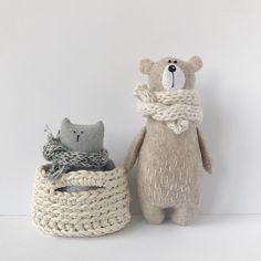 Earth friendly animal toys and rag dolls by AmuruToys Felt Diy, Felt Crafts, Diy Cadeau, Teddy Bear Toys, Sewing Toys, Soft Dolls, Stuffed Animal Patterns, Felt Ornaments, Small World