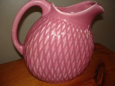Vintage Hull Pottery Pitcher  Pink  USA by thriftyrenewal on Etsy, $55.00