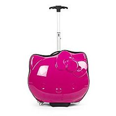 Brand: Hello Kitty Color: Pink Features: Official hello kitty product ABS Extendable handle and zipper closure Imported Publisher: FAB Starpoint Details: Official licensed ABS hello kitty die cut hardside luggage UPC: 688955852136 EAN: 0688955852136 Sanrio Hello Kitty, Hello Kitty Rosa, Hello Kitty Cartoon, Hello Kitty Coloring, Cartoon Bag, Hello Kitty Suitcase, Pink Sale, Trolley Bags, Shop Till You Drop
