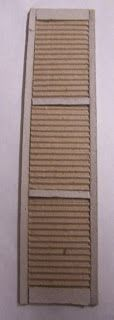 Idea - cardboard shutters (Cardboard shutters (perfect to hide my totally fake windows) | Source: Miniaturas y casas de munecas