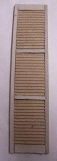 Idea - cardboard shutters (Cardboard shutters    Source: Miniaturas y casas de munecas
