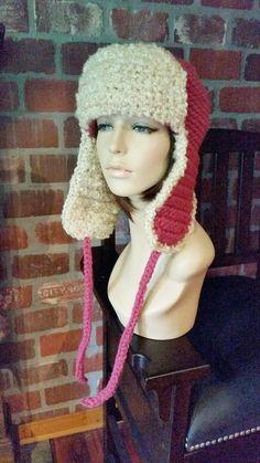 1927a36915a hand crochet russian trapper bomber aviator Hat womens accessories winter  hat women hat earflap - r