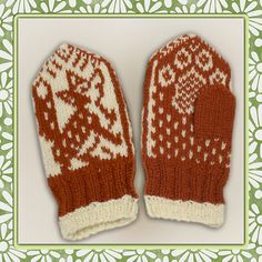Ravelry: Lille rev pattern by Jorid Linvik - Small fox Knit Mittens, Knitted Gloves, Knitting Socks, Knitting For Kids, Knitting Projects, Knitting Patterns Free, Free Knitting, Scandinavian Pattern, Animal Crafts