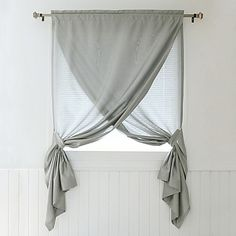 Decorinnovation Faux Silk 84-Inch Overlapping Rod Pocket Window Curtain Panel and Tie Backs