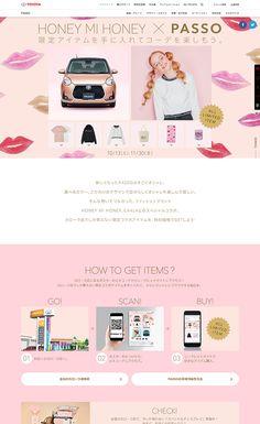 トヨタ パッソ | Web Design Clip [L] 【ランディングページWebデザインクリップ】 Website Design Inspiration, Graphic Design Inspiration, Interface Design, Banner Design, Web Development, Graphic Illustration, Advertising, Girly, Layout