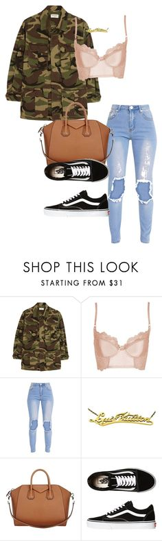 """Untitled #1017"" by sadgirllmaya ❤ liked on Polyvore featuring Yves Saint Laurent, Topshop, Louis Vuitton, Givenchy and Vans"