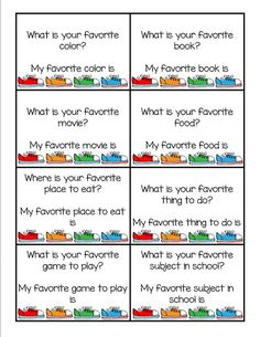 Guide students through answering in complete sentences through getting to know you activities at the beginning of the year. Students read and respond orally using question stems that they can use to improve their written responses.