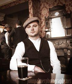 #peakyblinders #tweed #bakerboy #cap #pub #beer #waistcoat #birmingham #vintage #pocketwatch #pint