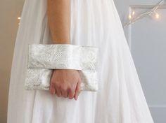 pochette mariage argente pochette de soire par mylmelo sur etsy - Pochette Argente Mariage