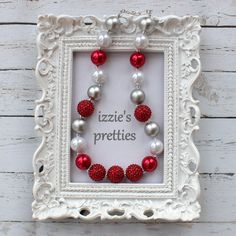 MATCHING Mother/Daughter Set Red Silver White by IzziesPretties