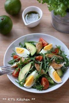 さば燻製とアボカドの香菜ライムサラダ(+ドレッシング)|レシピブログ