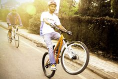 Orange Wheelie by Rakesh Oswal