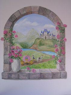 Princess Castle Window...wish I had the skills to paint something ...