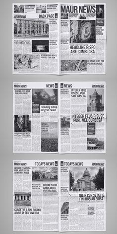 Indesign Newspaper Template, Indesign Templates, Adobe Indesign, Cv Template, Newspaper Design Layout, Layout Design, Editorial Layout, Editorial Design, Web Design Trends