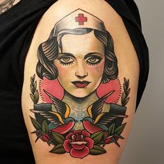 See this Instagram photo by @billy_raike_tattoos • 70 likes Traditional Nurse Tattoo