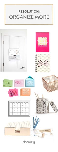 Is your 2017 Resolution to Organize more? We can help! Click to be the best desked and shop organization on dormify.com