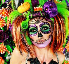 Crazy Halloween Makeup Ideas (lindsay marie,skull,skeleton,skull makeup,skeleton makeup,dia de los muertos,day of the dead,dia de los muertos makeup,day of the dead makeup,halloween)