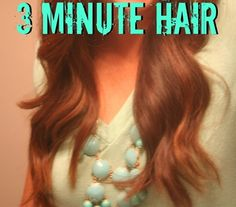 How To: Summer Hair in 3 Minutes� Easy, quick, g
