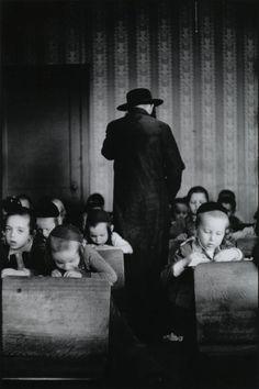 Leonard Freed. Jewish Hassidic Boys' Classroom. Brooklyn, New York, 1954
