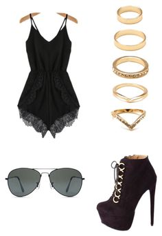 """""""Untitled #39"""" by lekksya ❤ liked on Polyvore featuring Charlotte Russe and Forever 21"""