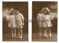 Children 2 vintage postcards no stamps door vintagepostoffice
