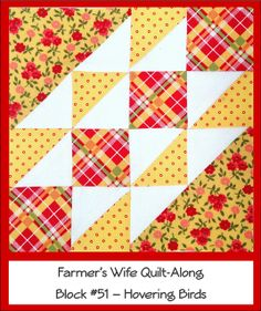 Farmer's Wife Quilt Along Block #51 - Hovering Birds by Ellie@CraftSewCreate, via Flickr