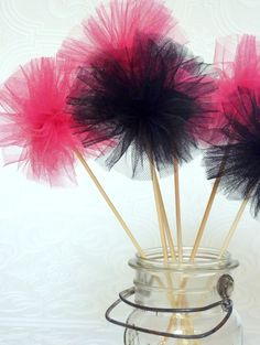 tulle party wands...super cute idea