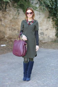 Marc by Marc Jacobs olive green dressFashion and Cookies - fashion blog