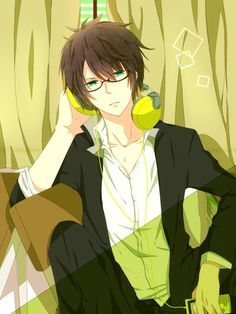 Anime boy with glasses