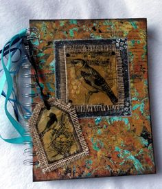 Altered Art Journal with bird image