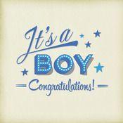 It's A Boy! greetings card