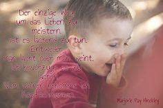Lachen, nicht weinen!