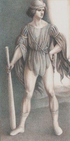Page of Wands - Leonardo Da Vinci Tatot by A. Atanassov, Iassen Ghiuselev