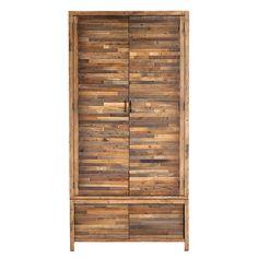Charlie Reclaimed Wood 2 Door Wardrobe   Bedframes   Bedroom