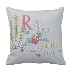 Inspired by P. Rabbit/Friends THROW PILLOW