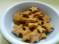 Mini Peanut Butter  Flaxseed Stars- Small healthy homemade dog treats